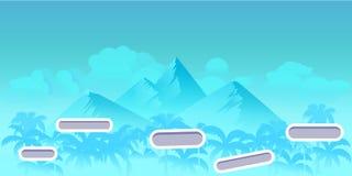 Bezszwowy kreskówki natury krajobraz z różnymi platformami i oddzielać warstwami dla gier Przygotowywający dla paralaksa skutka ilustracji