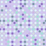 Bezszwowy kropkowany tło w świetle fiołek i nowi zieleni kolory - Fotografia Stock