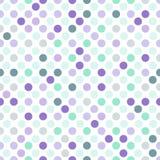 Bezszwowy kropkowany tło w świetle purpura i nowi zieleni kolory na białym tle - Zdjęcia Royalty Free