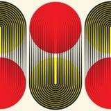 Bezszwowy kurenda wzór Abstrakcjonistyczny nowożytny geometryczny tło ilustracji
