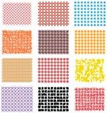 Bezszwowy kwadratowy abstrakt Obraz Royalty Free