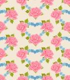 Bezszwowy Kwiaciasty tapetowy tło Zdjęcia Stock