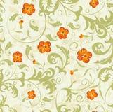 bezszwowy kwiatu adamaszkowy wzór Obrazy Stock