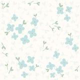 bezszwowy kwiatu błękitny wzór Obraz Stock