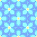 bezszwowy kwiatu błękitny wzór Fotografia Royalty Free