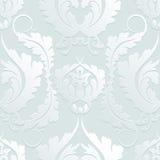 Bezszwowy Kwiecisty 3d Damaszek wzór Elegancka ampuła kwitnie na lekkim tle Może używać projektować tkaniny, tapeta, sieci pa Obrazy Royalty Free