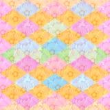 Bezszwowy kwiecisty i geometryczny wzór Tło z kwiatami Obrazy Royalty Free