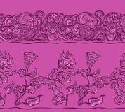 Bezszwowy kwiecisty koloru wzór Obrazy Stock