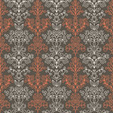 Bezszwowy kwiecisty liniowy wzór Obrazy Royalty Free