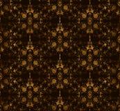 Bezszwowy kwiecisty na brown tle. Wektor Zdjęcie Stock