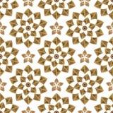 bezszwowy kwiecisty ornament geometryczni kształty Zdjęcie Royalty Free