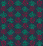 Bezszwowy kwiecisty rosjanina wzór Fotografia Royalty Free