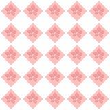Bezszwowy kwiecisty szachownica wzór Zdjęcia Royalty Free