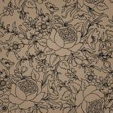 bezszwowy kwiecisty tła bukietów formie ciągnąć wzoru mały bezszwowy kwiat Kwiecisty bezszwowy tex Obrazy Royalty Free