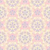 bezszwowy kwiecisty tła Menchii, błękita i koloru żółtego kwiatu wzór, Obrazy Royalty Free