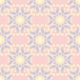 bezszwowy kwiecisty tła Menchii, błękita i koloru żółtego kwiatu wzór, Zdjęcia Stock