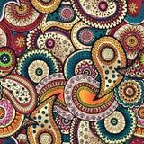 Bezszwowy kwiecisty tło wzór w wektorze Zdjęcie Royalty Free