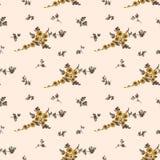 Bezszwowy kwiecisty wzór, żółty kwiat Zdjęcia Stock