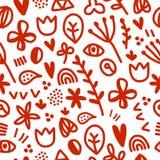 Bezszwowy kwiecisty wzór, ilustracja wektor