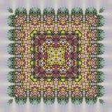 Bezszwowy kwiecisty wzór, obraz olejny Zdjęcia Stock