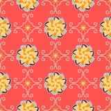 Bezszwowy Kwiecisty wzór, płytki Obraz Royalty Free