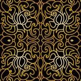 Bezszwowy kwiecisty wzór w art deco stylu Zdjęcie Royalty Free