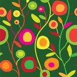 Bezszwowy kwiecisty wzór w prostym dekoracyjnym stylu Obrazy Royalty Free