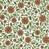 Bezszwowy kwiecisty wzór z kolorowymi fantazj roślinami i Obrazy Royalty Free