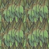 bezszwowy kwiecisty wzoru beak dekoracyjnego latającego ilustracyjnego wizerunek swój papierowa kawałka dymówki akwarela Zielony  royalty ilustracja