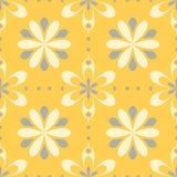 bezszwowy kwiecisty wzoru Jaskrawy żółty tło z kwiatów projektami ilustracji