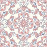 bezszwowy kwiecisty wzoru kwiat światła playnig tło Mandala azjata płytki ornament ilustracja wektor