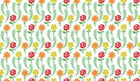 bezszwowy kwiecisty wzoru Kwiatu wektoru prosty wzór Zdjęcie Royalty Free
