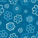 bezszwowy kwiecisty wzoru Kwitnie teksturę daisy Fotografia Stock