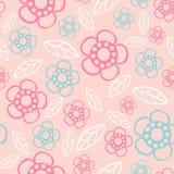 bezszwowy kwiecisty wzoru Kwitnie teksturę daisy Zdjęcia Royalty Free