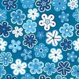 bezszwowy kwiecisty wzoru Kwitnie teksturę daisy Obraz Royalty Free