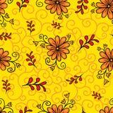 bezszwowy kwiecisty wzoru Nowożytny abstrakcjonistyczny jaskrawy kolorowy styl Ręka rysująca, - zapas Tło lub tapeta, wzór fotografia royalty free