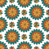 bezszwowy kwiecisty wzoru Nowożytny wektorowy tło z kwiatami Tekstylny druku lub pakować projekt ilustracja wektor