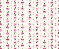 Bezszwowy kwiecisty wzór z różowymi kwiatami. Fotografia Stock