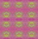 Bezszwowy kwiecistych ornamentów fiołkowy jaskrawy - zieleń Zdjęcie Stock