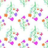 Bezszwowy kwitnący tło dla projekta ilustracja wektor