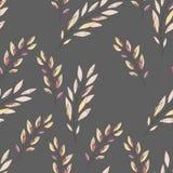 bezszwowy liści wzoru Kwiecisty elegancki tło Wektorowy tło ilustracji