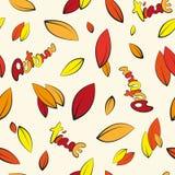 Bezszwowy liścia tło Zdjęcia Stock