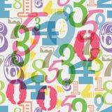 Bezszwowy liczba wzór, ilustracja wektor