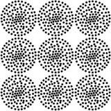Bezszwowy ślimakowaty kropki powtórki wzór z teksturami Fotografia Royalty Free