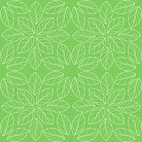 Bezszwowy liniowy liścia wzór Zdjęcie Royalty Free