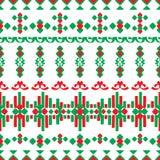 Bezszwowy liniowy ornament w etnicznym stylu Fotografia Royalty Free