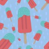 bezszwowy lodu kremowy wzór Zdjęcia Stock