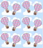 bezszwowy lotniczy balon Zdjęcia Stock