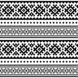 Bezszwowy ludowej sztuki wzór, Lapland tradycyjny projekt, Sami tła wektorowy bezszwowy skandynaw, Północna tapeta Fotografia Royalty Free