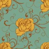 Bezszwowy Luksusowy kolor róży peoni wzór Zdjęcia Royalty Free